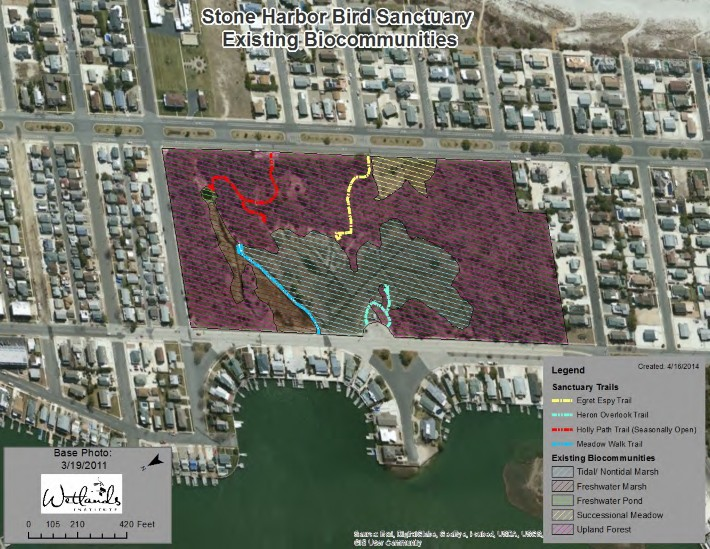 H:\Wetlands Institute\Wetlands Institute\Stone Harbor\Bird Sanctuary Restoration Project\WI_Work\Bird Sanctuary\Maps\SHBS_Existing_Biocommunities_Map1.jpg