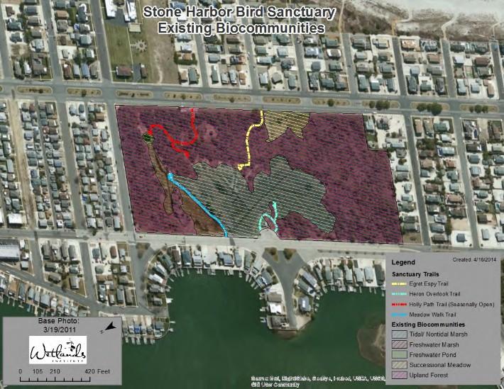 H:\Wetlands Institute\Wetlands Institute\Stone Harbor\Bird Sanctuary Restoration Project\WI_Work\Bird Sanctuary\Maps\SHBS_Existing_Biocommunities_Map1.jpg
